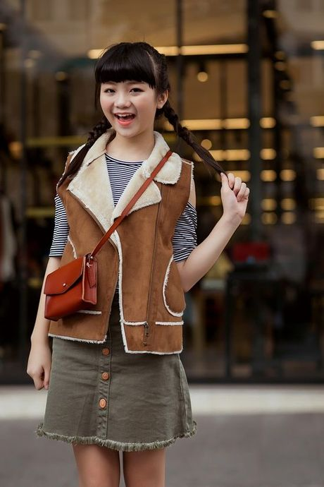 Kim Anh The Voice Kids khoe street style xinh xan tren pho - Anh 6