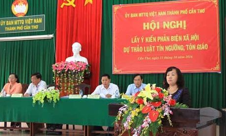 Can Tho lay y kien phan bien Du thao Luat tin nguong, ton giao - Anh 1