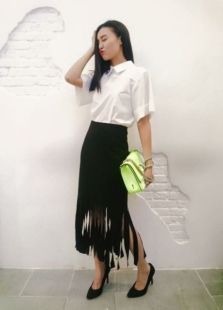Phong cach mix do tua rua cuc chat cua Minh Hang, Jennifer Pham - Anh 4
