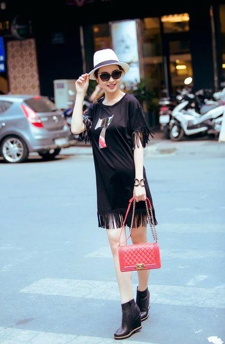 Phong cach mix do tua rua cuc chat cua Minh Hang, Jennifer Pham - Anh 7