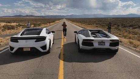 "Xem sieu xe Lamborghini Aventador 691 ma luc do suc cung ""xe lai"" Acura NSX 573 ma luc - Anh 1"