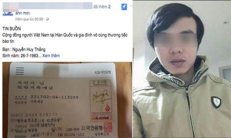 Xot xa lao dong Viet chet tai Han Quoc, gia dinh khong co tien dua ve - Anh 1