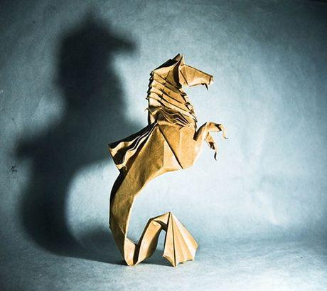 Ngam bo suu tap origami dong vat sinh dong cua nghe si Tay Ban Nha - Anh 7