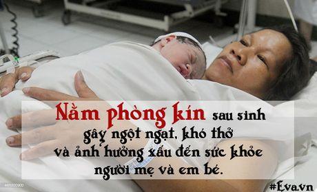 "Nhung sai lam ""chet nguoi"" ve chuyen kieng cu sau sinh cua me Viet - Anh 4"