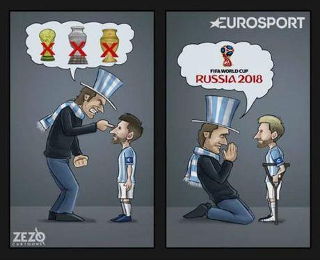 "6 diem/6 tran: Den luc nguoi Argentina ""xin loi"" Messi - Anh 2"