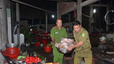 Gan 700 kg thit heo benh, boc mui trong co so giet mo lau - Anh 1