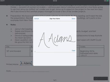 Dropbox (iOS) them chu ky so cho PDF, chia se file qua tin nhan - Anh 1