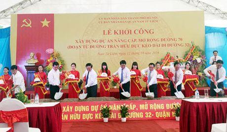 Khoi cong du an nang cap, mo rong duong 70 - Anh 1