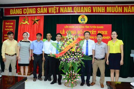 LDLD tinh Tuyen Quang: Thanh lap Cong doan cac khu cong nghiep tinh - Anh 1