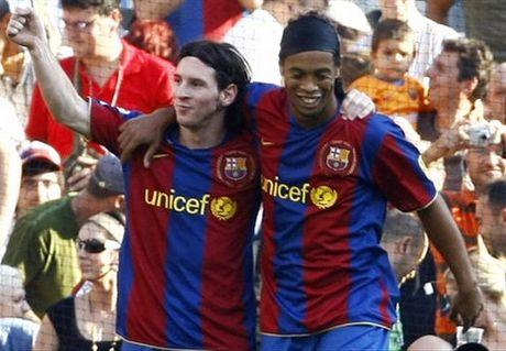 """Ronaldinho: """"Messi khong bao gio so duoc voi Pele va Maradona"""" - Anh 1"""