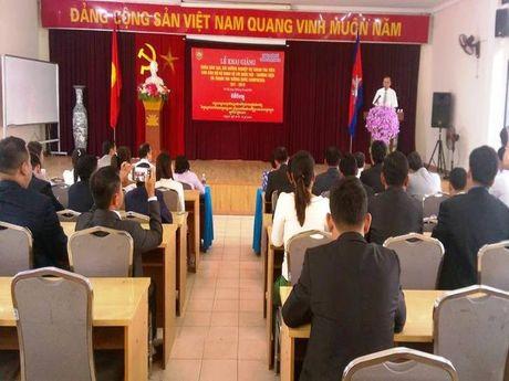 Can bo Campuchia sang VN boi duong nghiep vu thanh tra - Anh 1