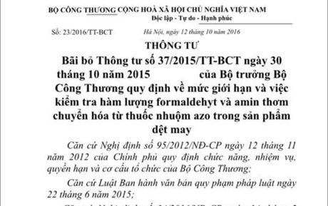 Bo truong Tran Tuan Anh chinh thuc bai bo Thong tu 37 - Anh 1