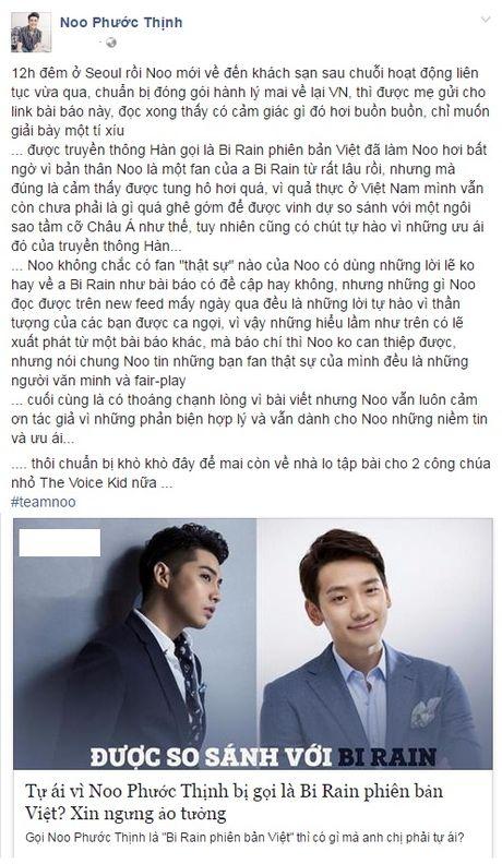 Noo Phuoc Thinh noi gi khi duoc goi la 'Bi Rain phien ban Viet'? - Anh 3