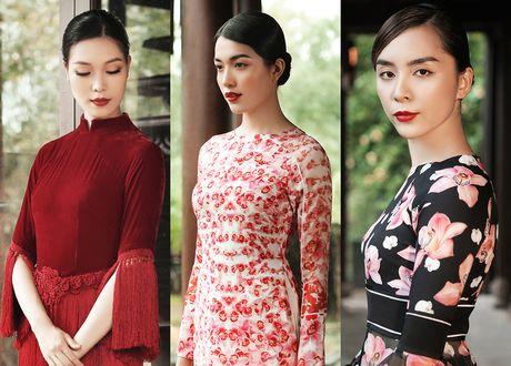 Thien Ly, Thuy Dung, Le Hang ton vinh ao dai Viet Nam - Anh 1