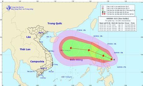Xuat hien bao Sarika gan Bien Dong, cach dao Luzon 500km - Anh 1