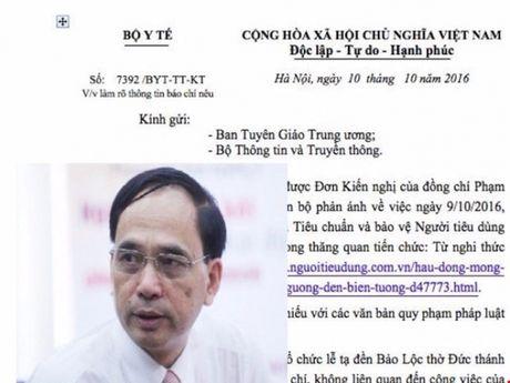 Man ban nhung 'khiem khuyet' ve xu ly vu viec cua ong Pham Van Tac, Vu truong Vu To chuc can bo - Bo Y te - Anh 1