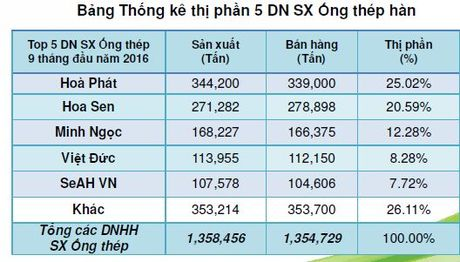 Hoa Phat dan dau thi phan ong thep trong 9 thang qua - Anh 1