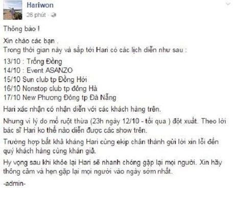 Hari Won phai phau thuat trong dem - Anh 3