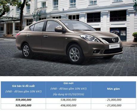 Nissan Sunny giam gia toi 27 trieu dong - Anh 2