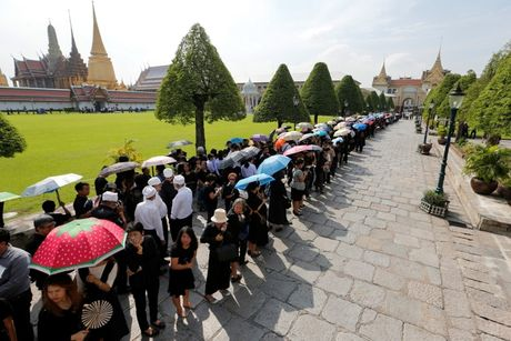 Nguoi dan Thai Lan do ra duong don linh cuu Vua Bhumibol duoc dua ve Hoang cung - Anh 2