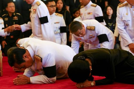 Nguoi dan Thai Lan do ra duong don linh cuu Vua Bhumibol duoc dua ve Hoang cung - Anh 3