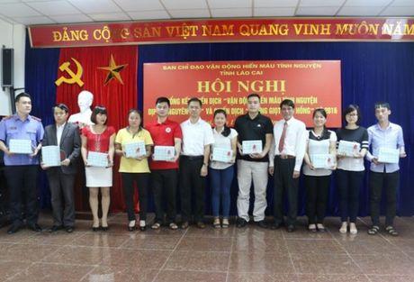 Lao Cai: Tiep nhan 1.336 don vi mau - Anh 1