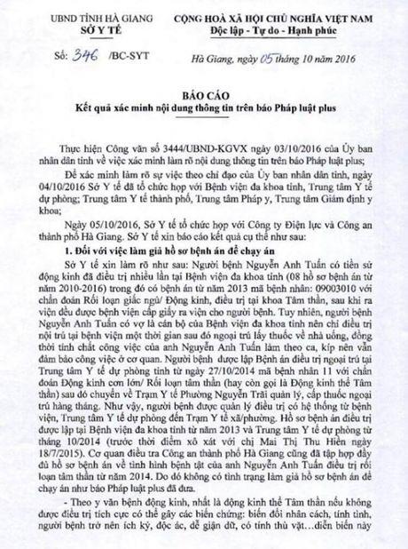 Vu nghi loi dung benh an tam than de tron toi: So Y te Ha Giang len tieng - Anh 1
