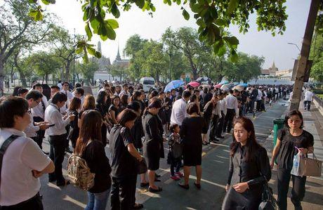 Nguoi dan Thai Lan mat do hoe, xep hang dai cho vieng Quoc vuong Bhumibol - Anh 2