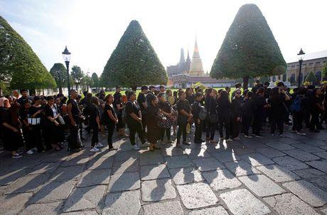 Nguoi dan Thai Lan mat do hoe, xep hang dai cho vieng Quoc vuong Bhumibol - Anh 5