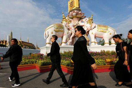 Nguoi dan Thai Lan mat do hoe, xep hang dai cho vieng Quoc vuong Bhumibol - Anh 9