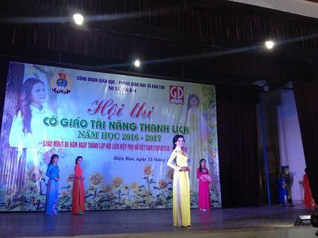 Cong doan nganh giao duc Dien Ban (Quang Nam): Chung ket cuoc thi 'Co giao tai nang- Thanh lich' - Anh 1