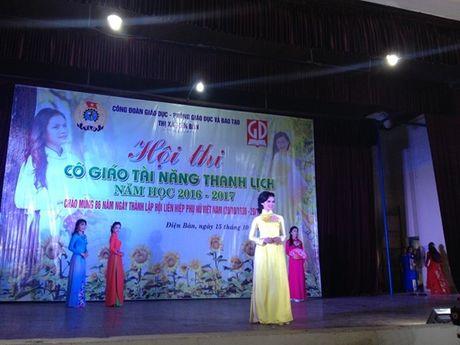 Cong doan nganh giao duc Dien Ban (Quang Nam): Chung ket cuoc thi 'Co giao tai nang- Thanh lich' - Anh 3
