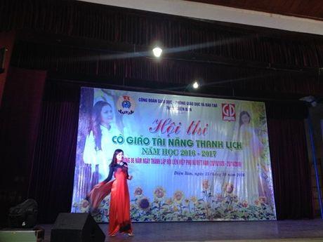 Cong doan nganh giao duc Dien Ban (Quang Nam): Chung ket cuoc thi 'Co giao tai nang- Thanh lich' - Anh 4