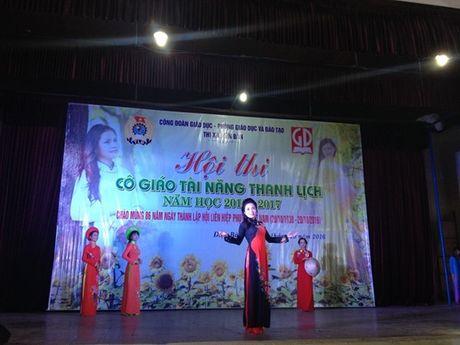 Cong doan nganh giao duc Dien Ban (Quang Nam): Chung ket cuoc thi 'Co giao tai nang- Thanh lich' - Anh 5