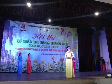 Cong doan nganh giao duc Dien Ban (Quang Nam): Chung ket cuoc thi 'Co giao tai nang- Thanh lich' - Anh 7