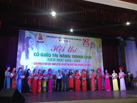 Cong doan nganh giao duc Dien Ban (Quang Nam): Chung ket cuoc thi 'Co giao tai nang- Thanh lich' - Anh 9