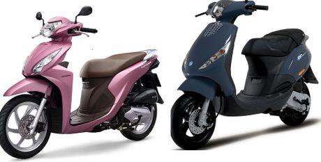 Honda Vision va Piaggio Zip nen mua xe nao la tot nhat? - Anh 1