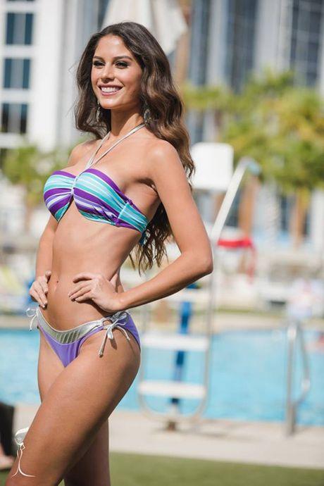 Nong bong phan thi bikini cua Nguyen Thi Loan tai 'Hoa hau Hoa binh The gioi' - Anh 33