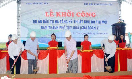 Phu Yen: Khoi cong xay dung ha tang giai doan 1 Khu do thi Nam Tuy Hoa - Anh 1