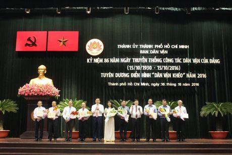 Bi thu Dinh La Thang:Can bo dan van phai tao su hap dan, thuyet phuc khi tiep xuc voi dan - Anh 1