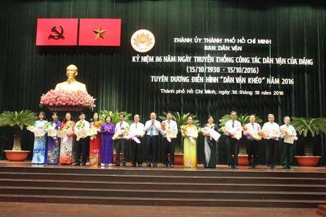 Bi thu Dinh La Thang:Can bo dan van phai tao su hap dan, thuyet phuc khi tiep xuc voi dan - Anh 2