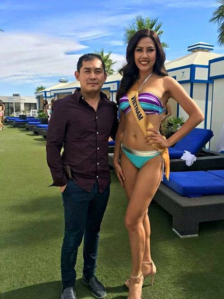Nguyen Thi Loan tu tin trinh dien bikini ben dan nguoi dep quoc te - Anh 3