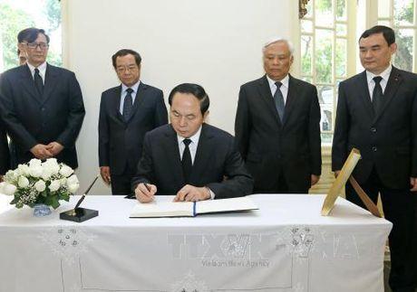 Chu tich nuoc vieng Nha Vua Thai Lan Bhumibol Adulyadej - Anh 1