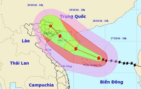 Bao giat cap 17 huong vao Quang Ninh-Nam Dinh - Anh 1