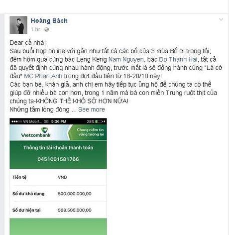 'Sao' Viet cung MC Phan Anh cuu tro dong bao mien Trung lu lut - Anh 3