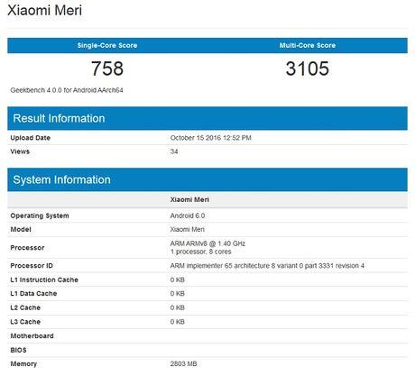 Lo dien Xiaomi Meri: smartphone dau tien su dung chip do Xiaomi san xuat? - Anh 1