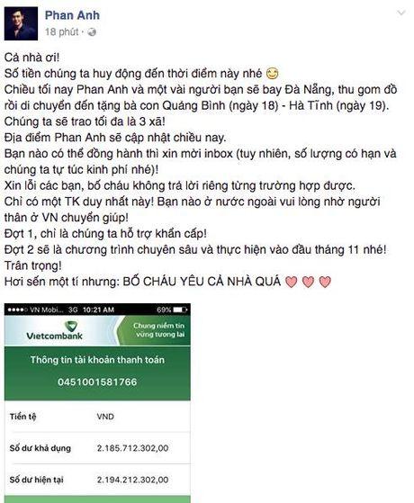 MC Phan Anh gop 500 trieu va quyen duoc hon 2,1 ti dong giup do dong bao mien Trung - Anh 3