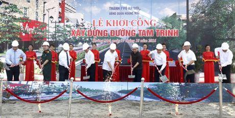 Khoi cong du an xay dung, mo rong duong Tam Trinh, quan Hoang Mai - Anh 1