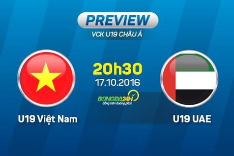 U19 Viet Nam vs U19 UAE (20h30 17/10): Nga re lich su - Anh 1