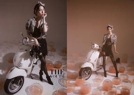 An tuong bo anh cua Lam Thuy Nhan trong Vespa Top Stylist Contest - Anh 1
